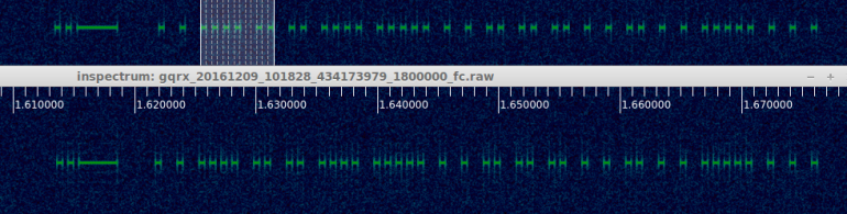 Original signal top, RfCat bottom.